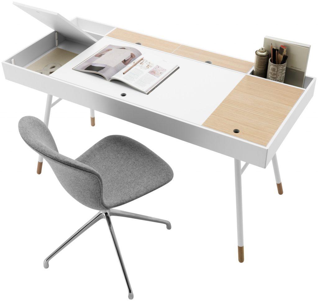 meja unik dengan bluetooth speaker