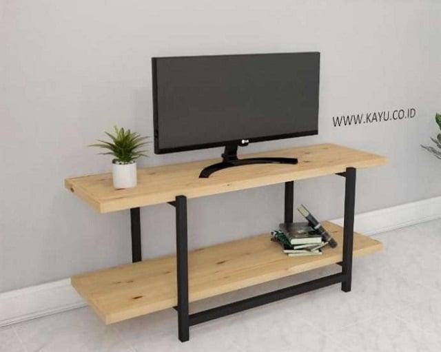 meja kayu pinus