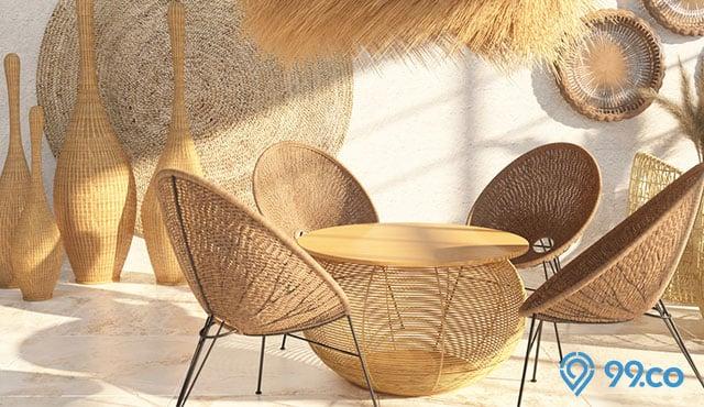7 Inspirasi Desain Meja Makan Rotan | Furnitur Cantik yang Pas untuk Menghias Ruang