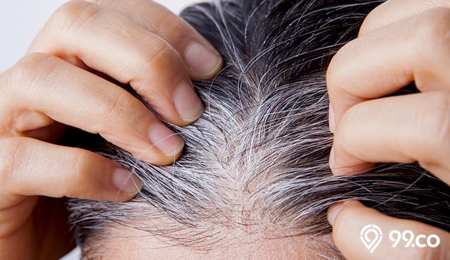 mencegah uban di rambut