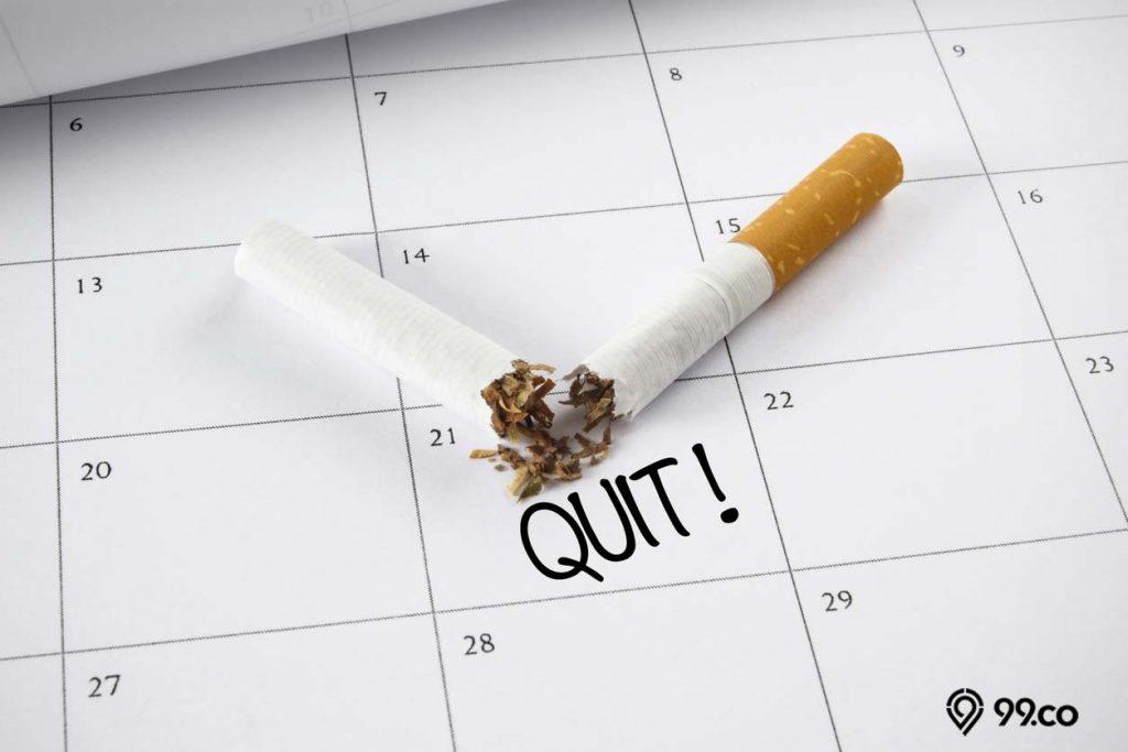cara menggemukan badan dengan berhenti merokok