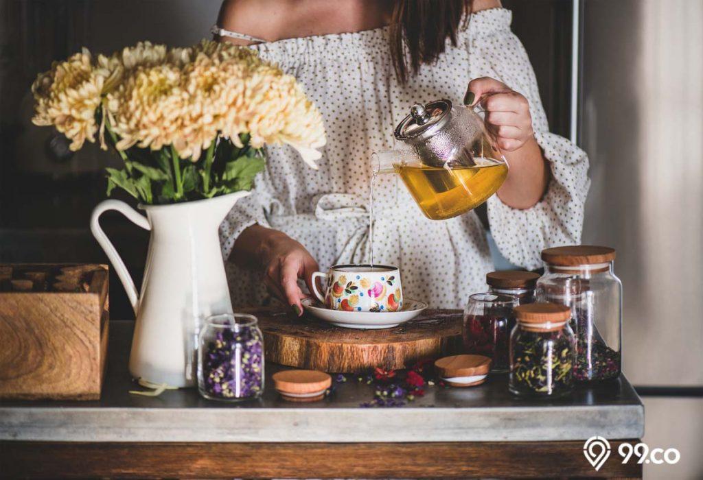 minum teh herbal sebelum makan