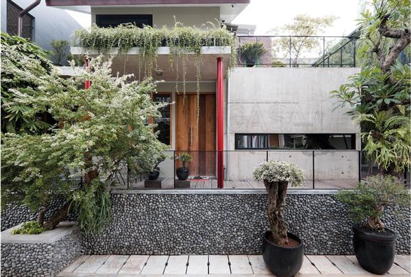 model rumah minimalis material batu alam