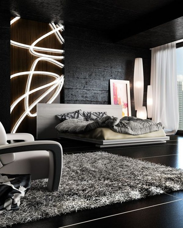 desain kamar tidur dekorasi lampu