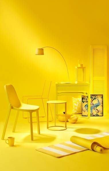 desain kamar serba kuning