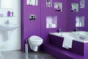 kamar mandi serba ungu