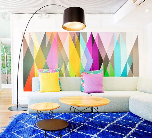 8 Inspirasi Motif Cat Dinding Geometris Bikin Ruangan Jadi Menawan