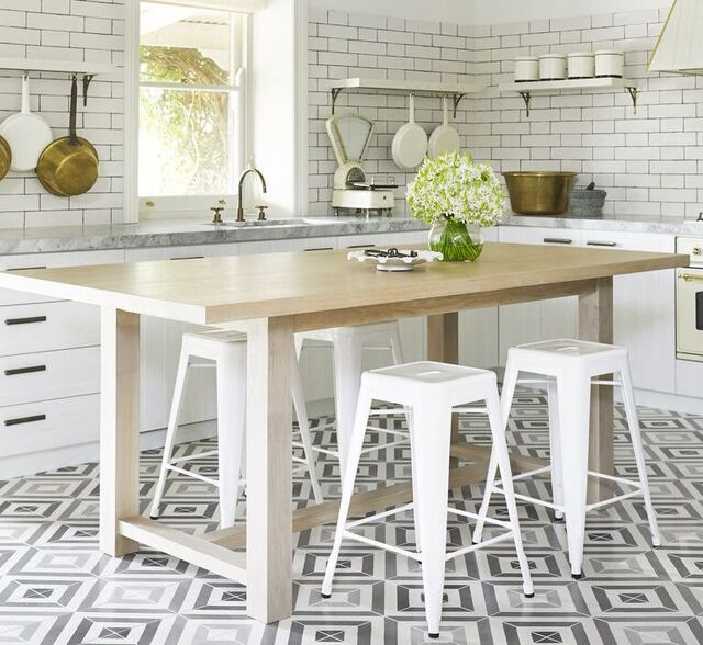 motif keramik lantai dapur turkish terazzo retro