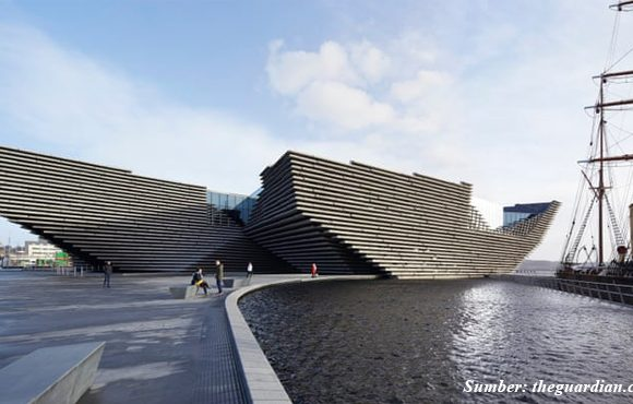 bangunan unik museum v&a dundee