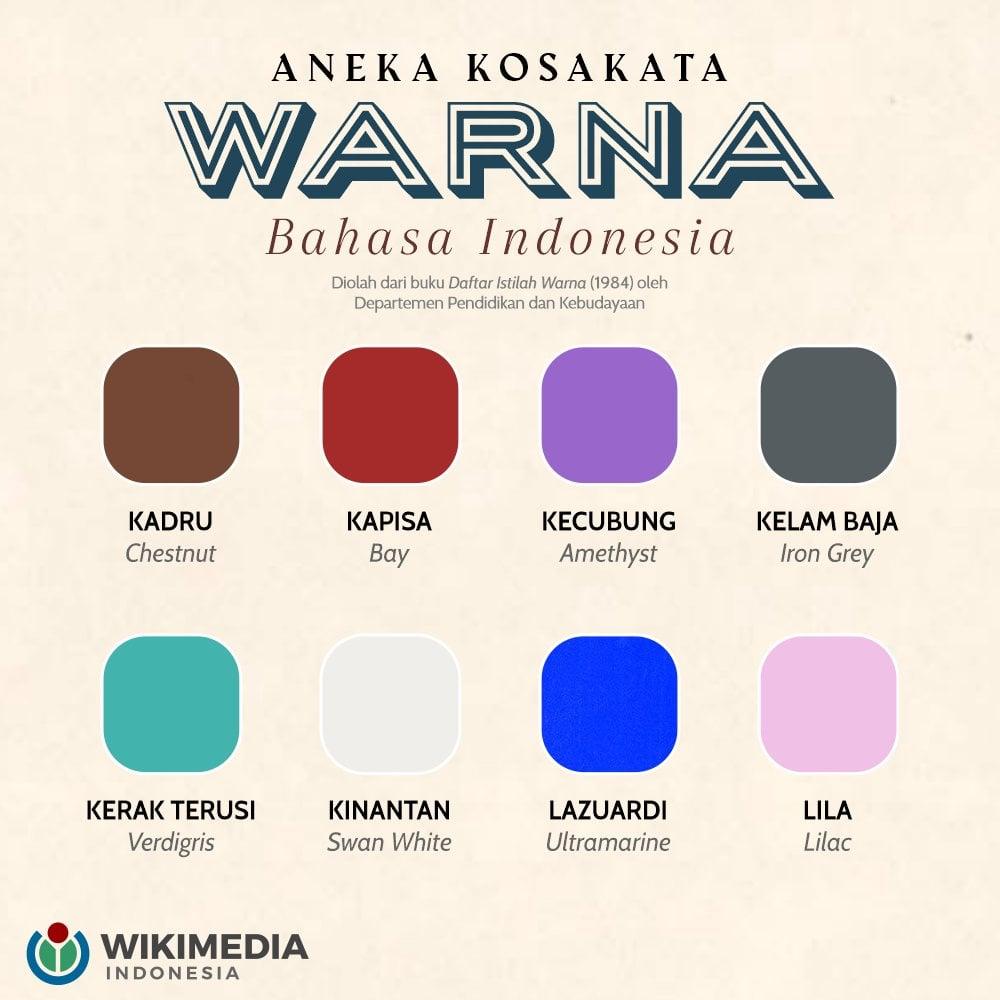 nama nama warna dalam bahasa indonesia
