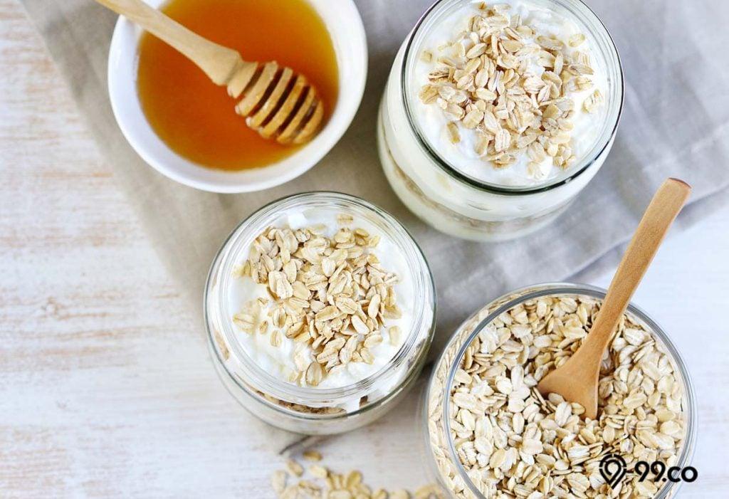 masker oatmeal madu