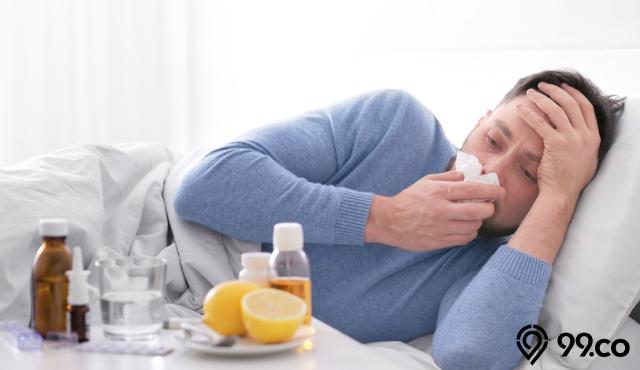 pria sakit flu