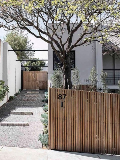 12 Contoh Pagar Rumah Minimalis Dari Kayu Bikin Rumah Makin Modern