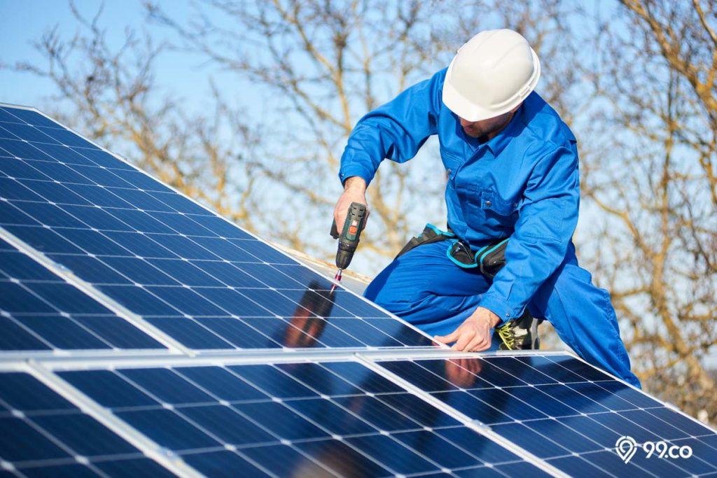 pemasangan solar module