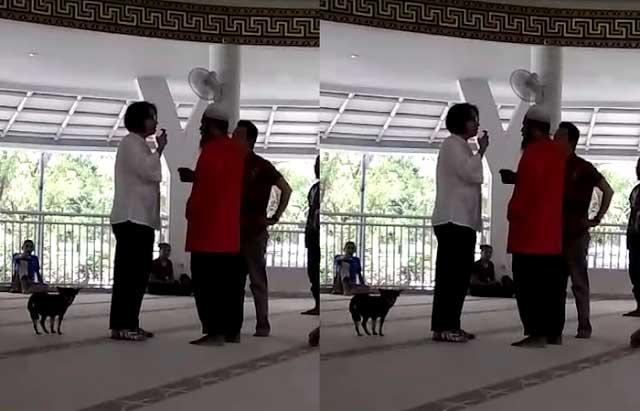 pembawa anjing ke dalam masjid