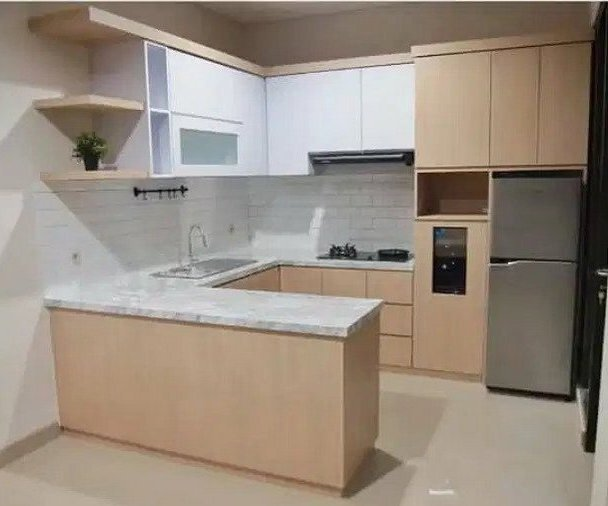 layout u kitchen set