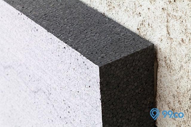 styrofoam dinding