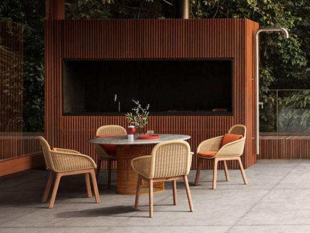 perabotan tak lekang waktu di teras rumah minimalis