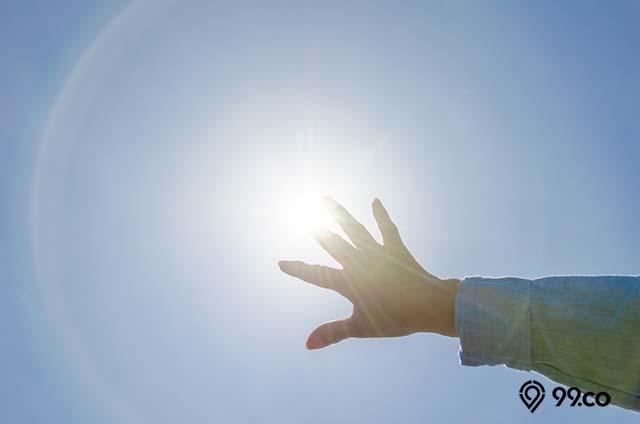 melindungi dari sinar ultraviolet