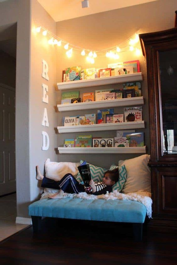 perpustakaan pribadi di rumah