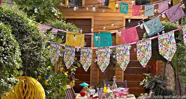 pesta kebun sederhana