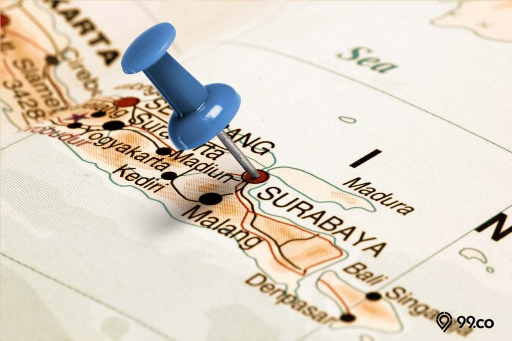 peta kota surabaya
