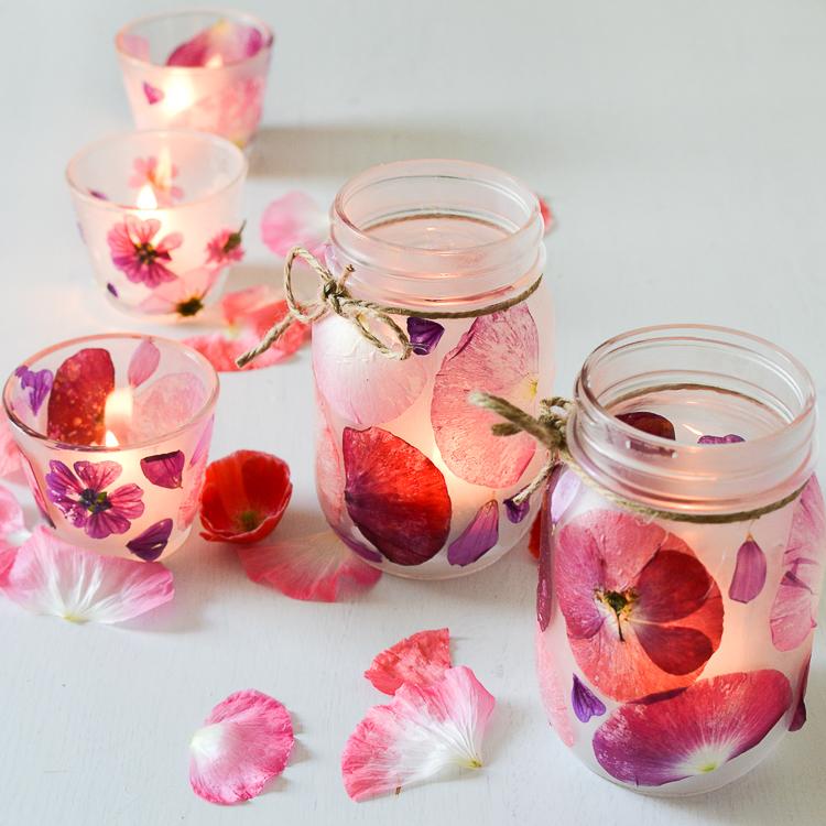 aroma therapy jar pressed flower