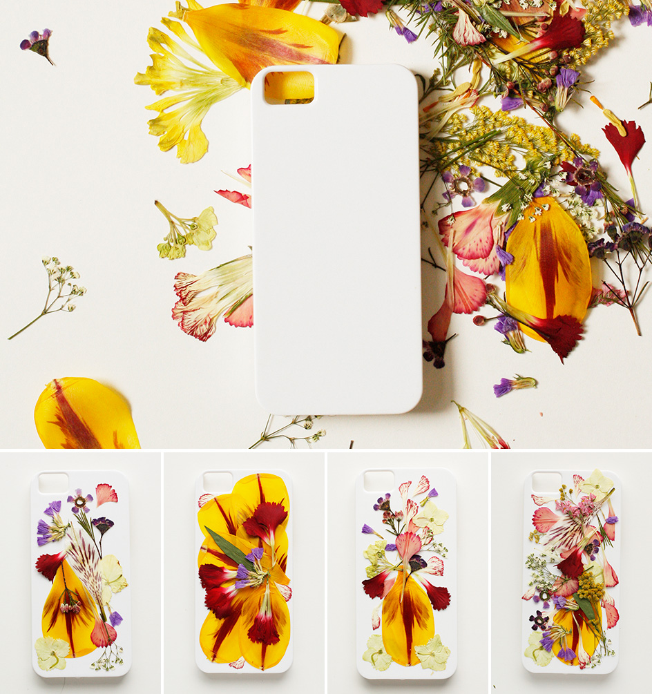 case handphone bunga kering