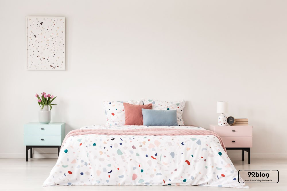 warna cat kamar tidur pink