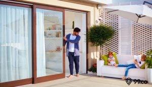 pintu geser kayu