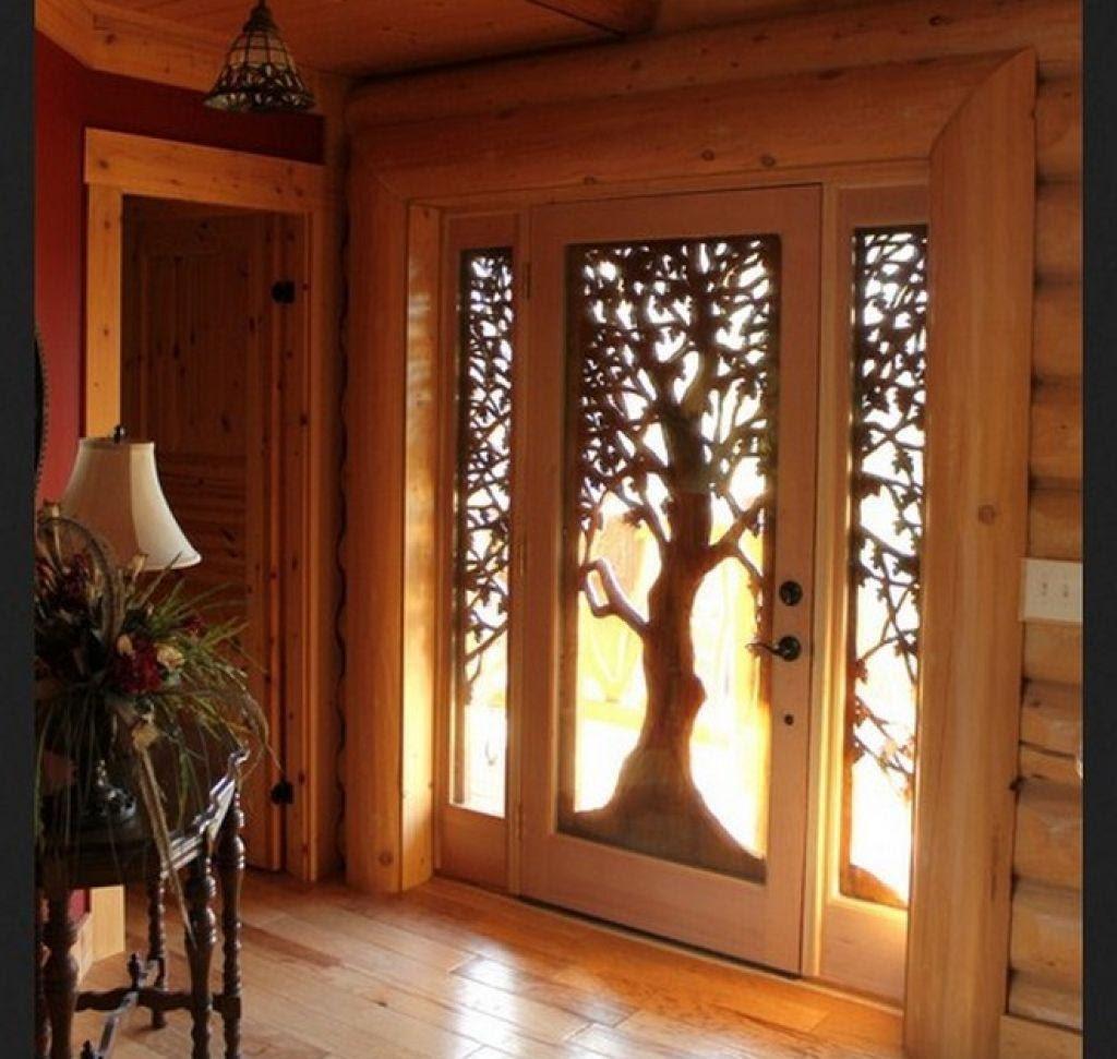 pintu ukir kayu