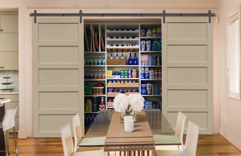 desain pintu geser ruang makan