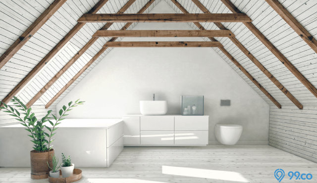 plafon minimalis kayu