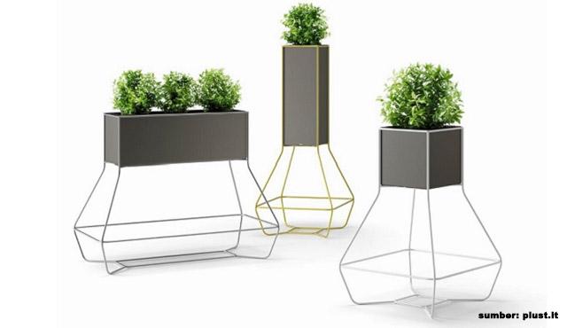 6 Desain Pot Bunga Berkaki untuk Menempatkan Koleksi Tanaman Indoor
