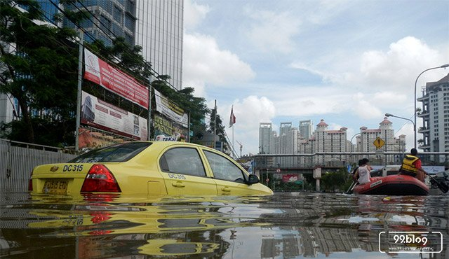 potret banjir jakarta