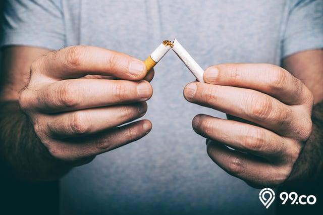 puntung rokok patah
