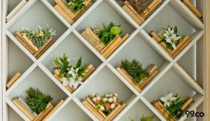 cara membuat rak bunga dari kayu