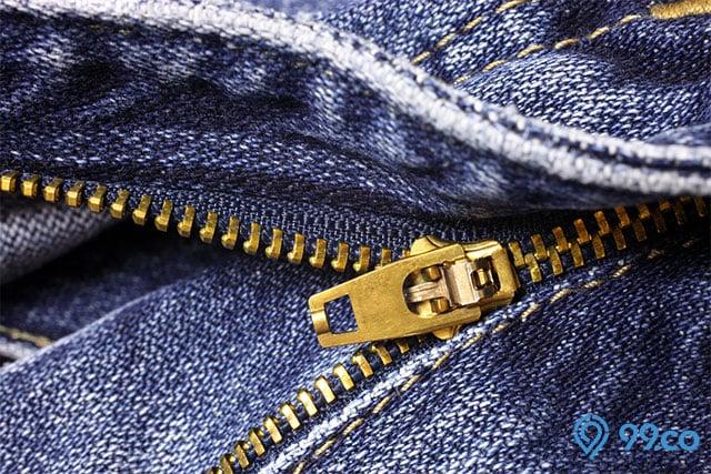 memperbaiki resleting jeans jebol