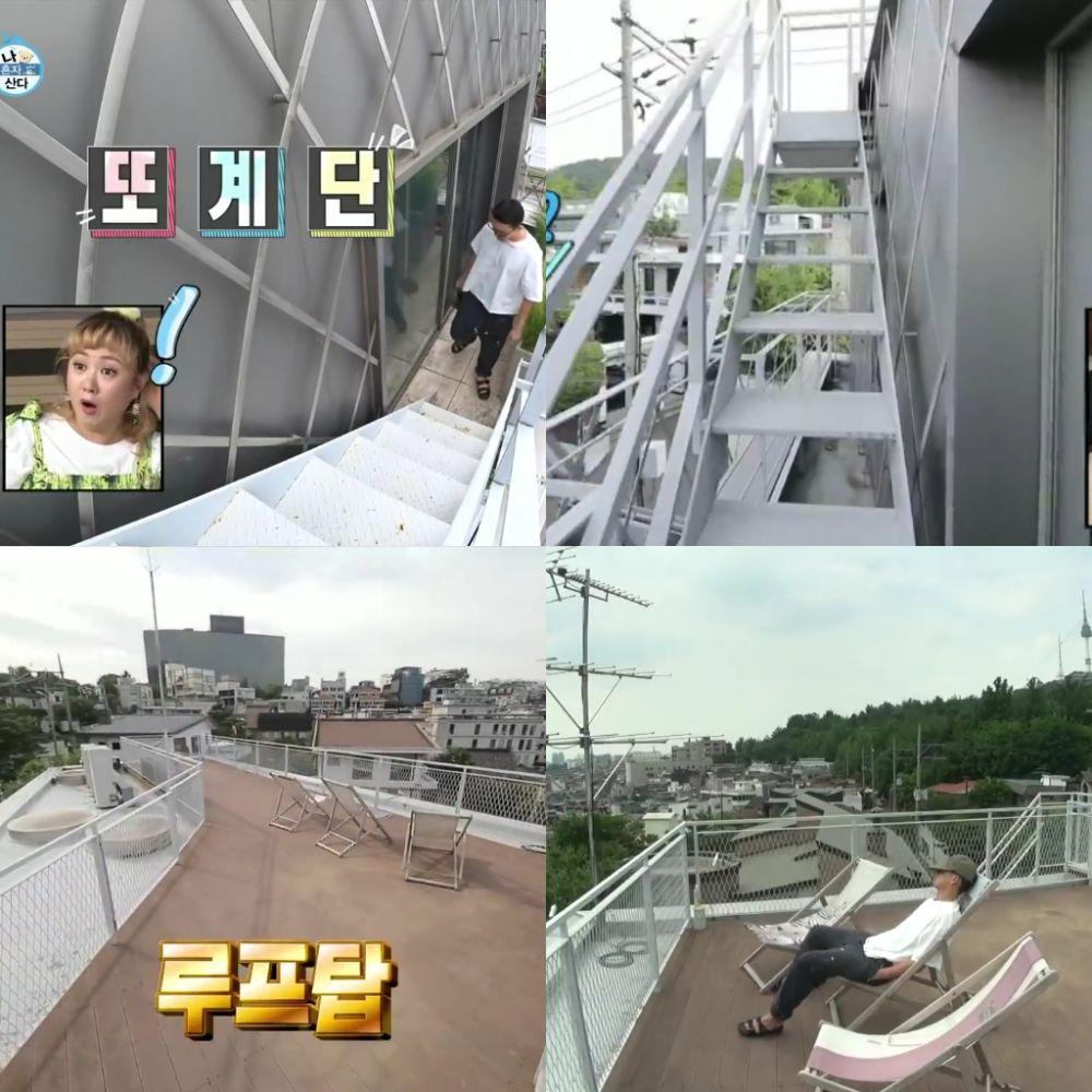 rooftop di rumah artis korea