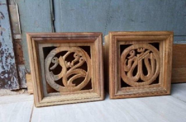 kayu kaligrafi