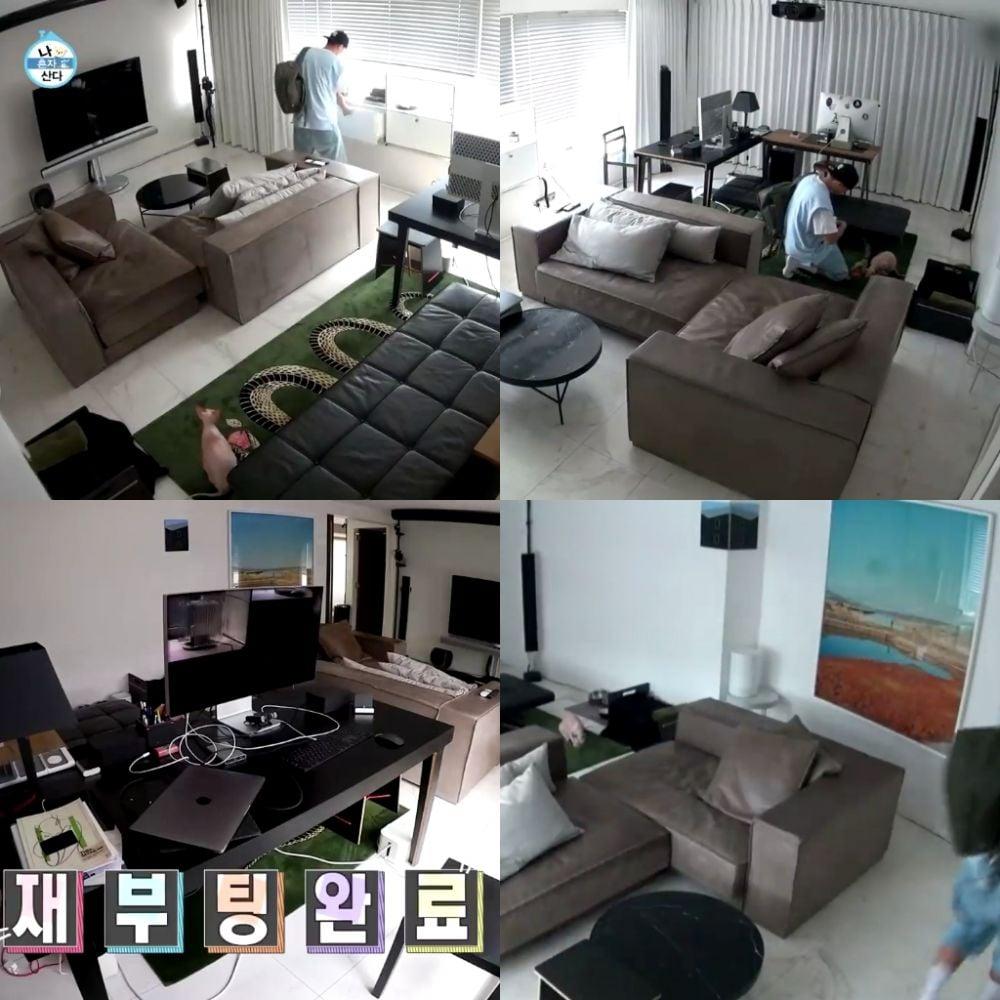 ruang kerja aktor korea pemain film burning