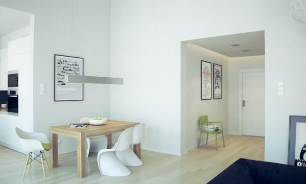 ruang makan minimalis skandinavia