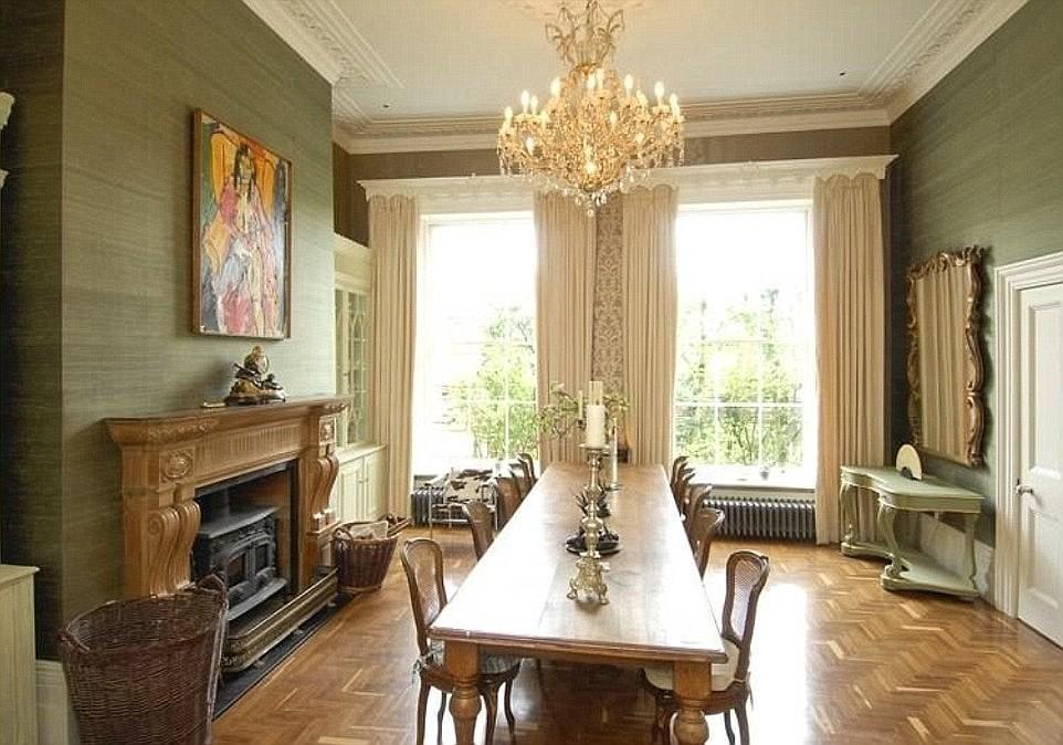 ruang makan rumah george clooney