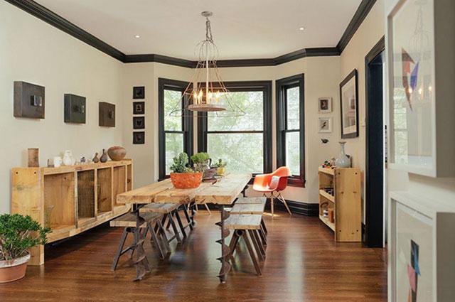Ruang Makan Sederhana kayu