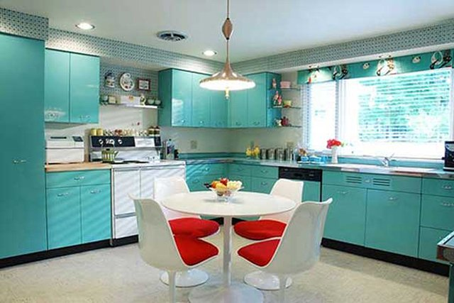 dapur warna biru tosca