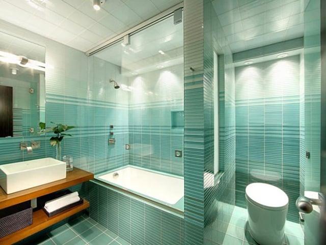 kamar mandi warna tosca