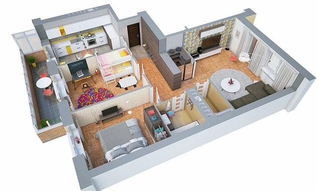 Denah Rumah Minimalis 2 Kamar Yang Nyaman & Hemat Tempat!