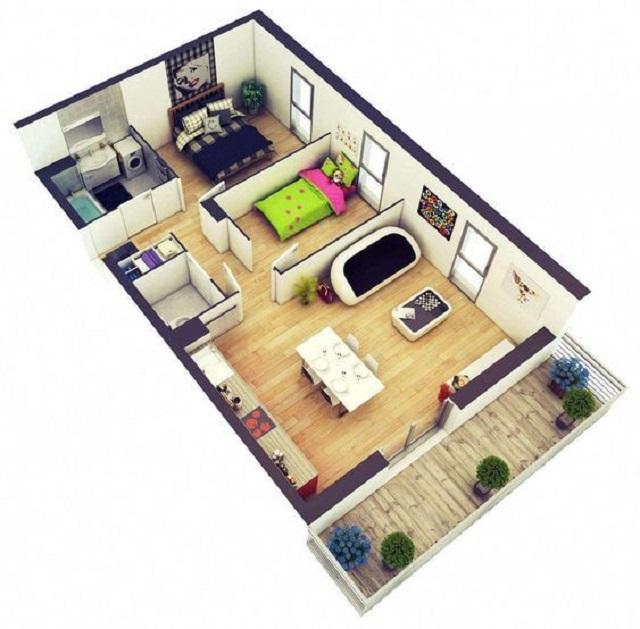 desain rumah minimalis sederhana 1 lantai 2 kamar tidur