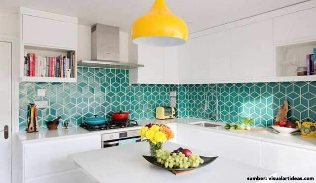 8 Inspirasi Desain Interior Rumah Warna Biru Tosca Tercantik | Bikin Makin Santai!
