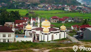 rumah dekat masjid